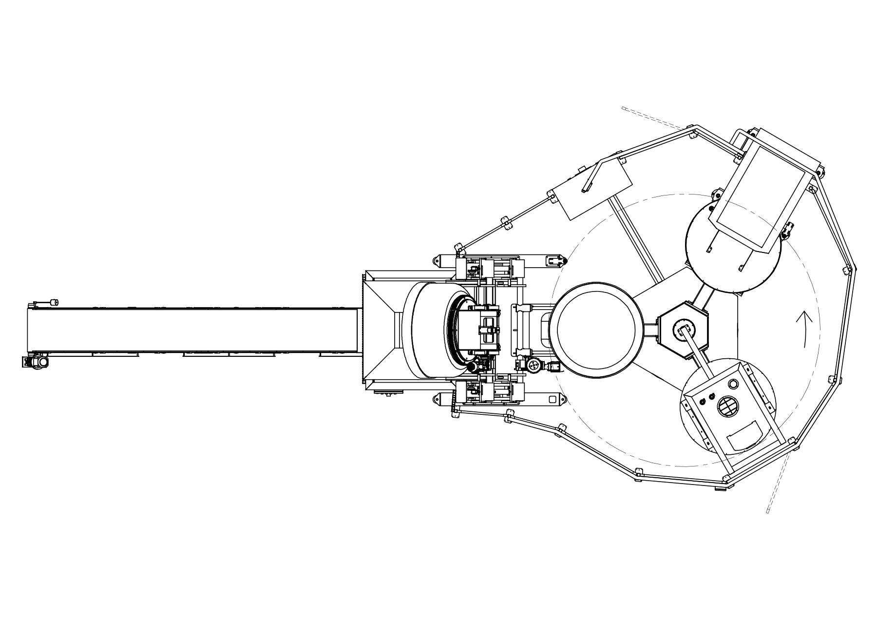 sistema automatico rotativo mixer